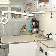 Mobile Vet Clinic interior – examination table